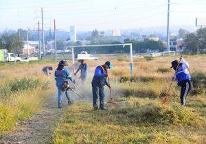 Realizan jornada de rehabilitación de espacios públicos en el Infonavit Morelos