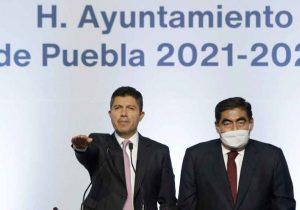 Eduardo Rivera inicia su gobierno municipal de Puebla con respaldo estatal y nacional
