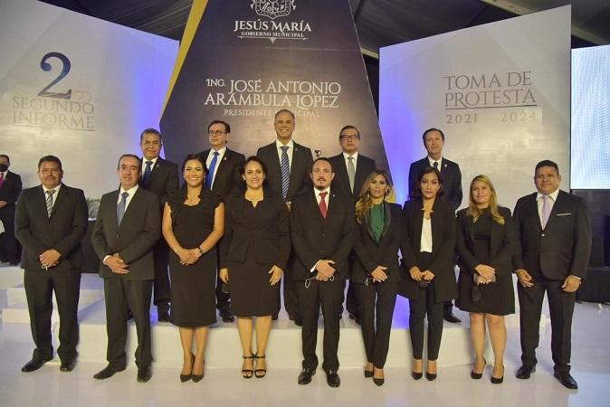 Rindió Toño Arámbula su segundo informe de gobierno como alcalde de Jesús María