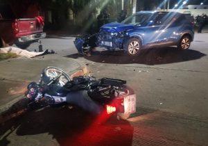 Muere adolescente motociclista que se estrelló contra una camioneta en Aguascalientes