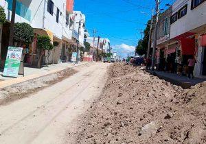 Obras de última hora de Pérez Popoca y deja destruido centro de Tlaxcalancingo
