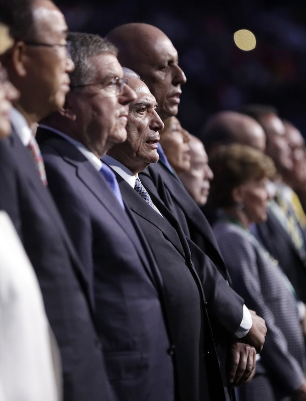 Michel Temer declara abiertos los Juegos de Río 2016 entre abucheos