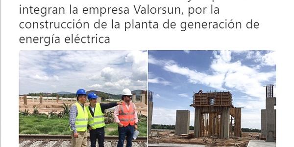 Meléndez celebra planta eléctrica que es rechazada
