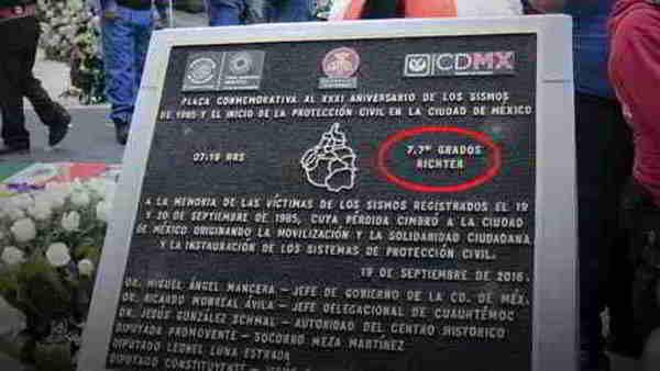Devela CDMX placa del terremoto de 1985… con error