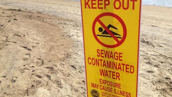 México vertió aguas negras en costas de EE.UU.