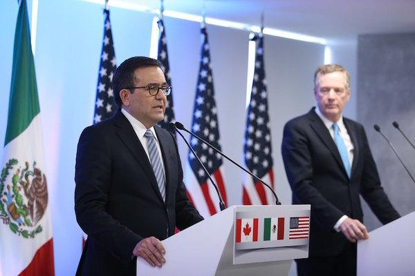 EE.UU., México y Canadá retoman renegociación del polémico TLCAN