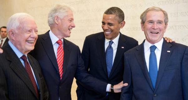 Clinton, Obama y los Bush juntos por las víctimas de huracanes
