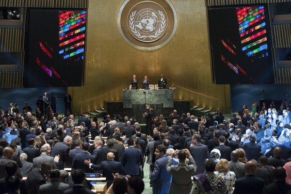 Ban Ki-moon abre Asamblea General de la ONU pidiendo por refugiados