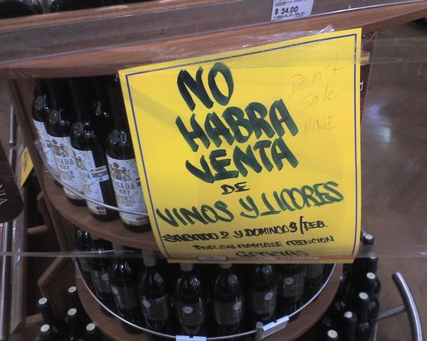"Caerán 80% ventas en restaurantes por ""Ley Seca"" del fin de semana"