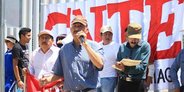 Marcha CNTE contra la reforma educativa
