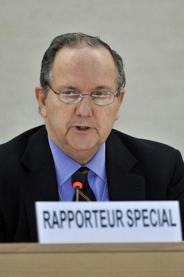 Aceptaría México hasta noviembre a relator de la ONU