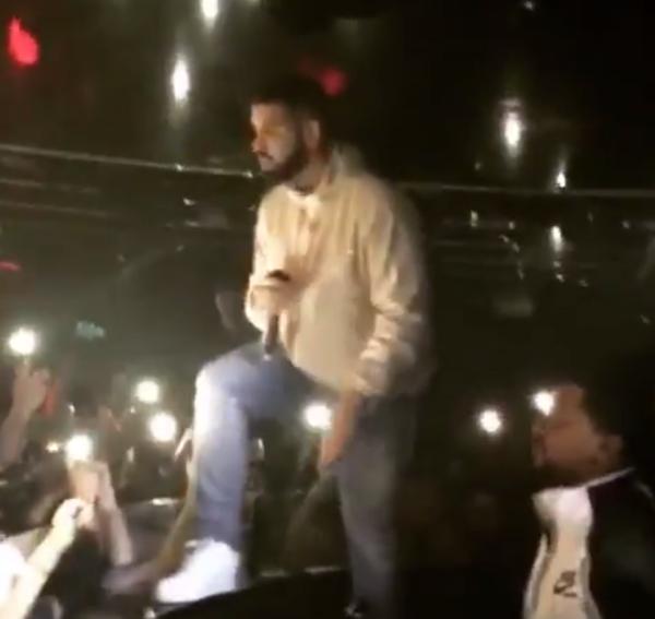 Drake detiene concierto para defender a mujeres acosadas