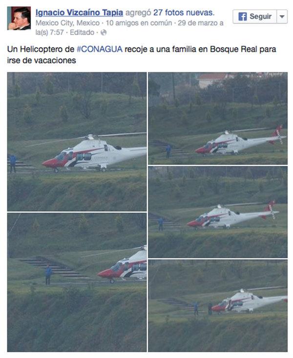 """Korenfeld usó helicóptero para """"asunto médico"""": Conagua"""