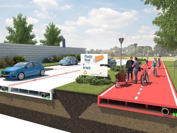 Holanda construye carreteras con plástico extraído del mar