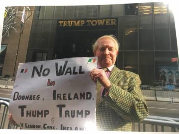 """Trump se niega a pagar por """"las molestias"""" de su fallido muro en Irlanda"""