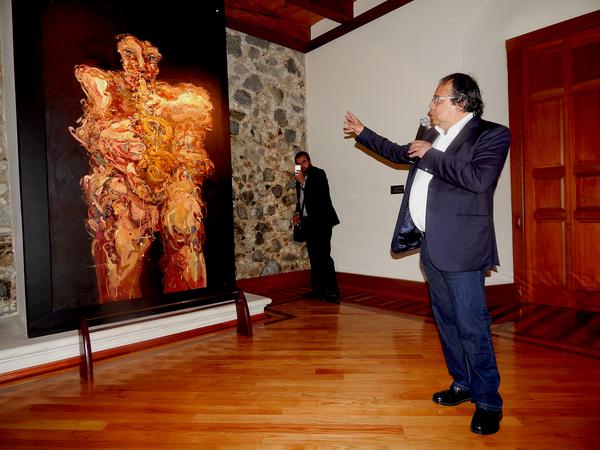 Expone obra artista Jazzamoart en UAEH
