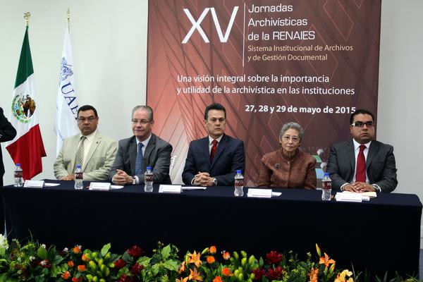 Inaugura UAEH XV Jornadas Archivísticas de la RENAIES