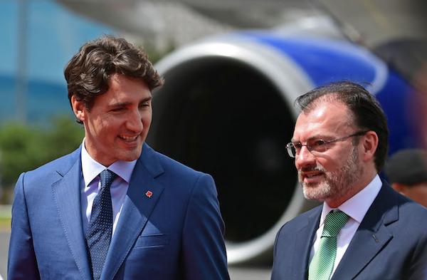 Trudeau visita por primera vez México