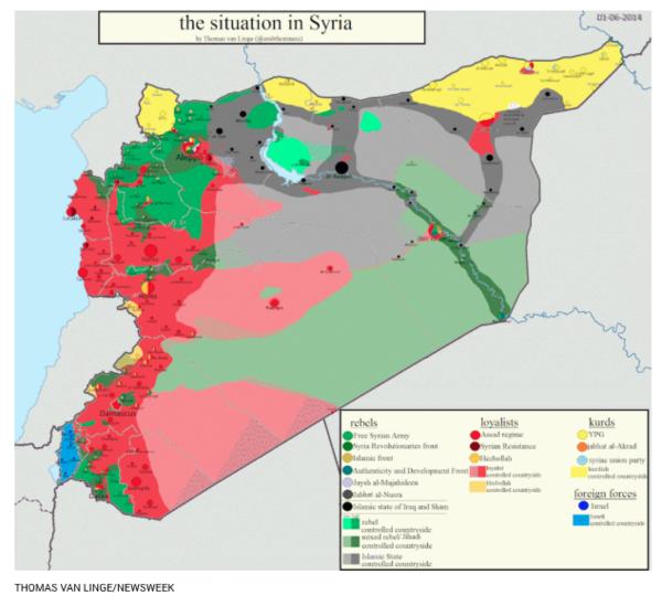 Estudiante de secundaria mapea al Estado Islámico