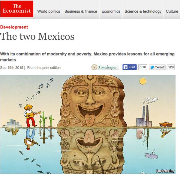 México, atrapado entre dos realidades: The Economist