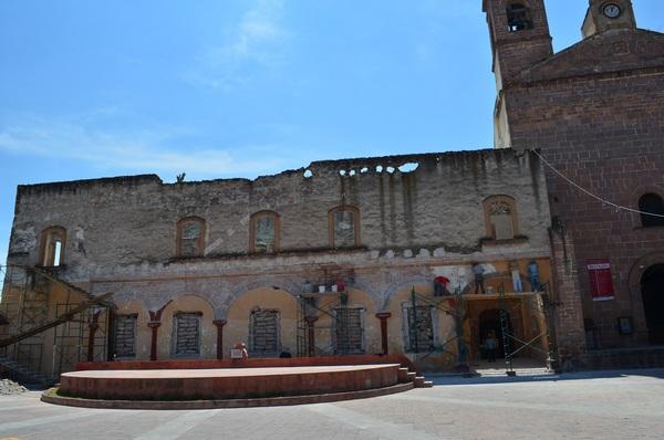 Continúa la restauración del convento de Alfajayucan