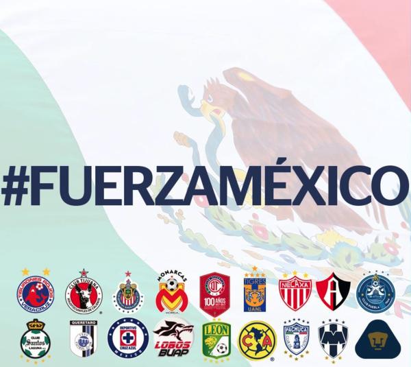 La liga mexicana de futbol suspende la jornada 10