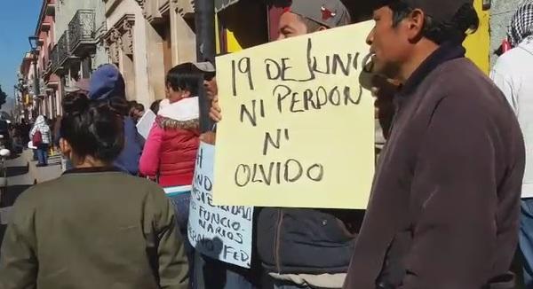 Protestan en rechazo a recomendaciones por caso Nochixtlán en Oaxaca