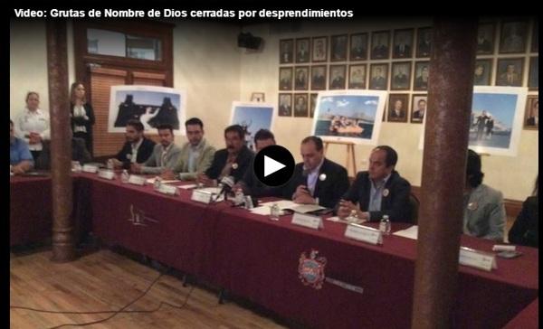 Video: Grutas de Nombre de Dios cerradas por desprendimientos