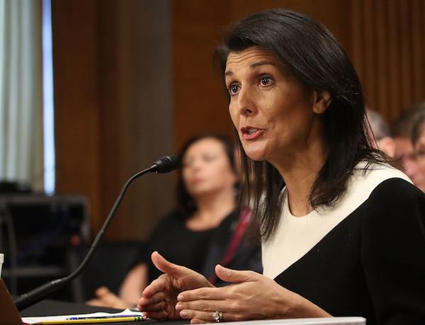 Senado de EE.UU. confima a Nikki Haley como embajadora de la ONU