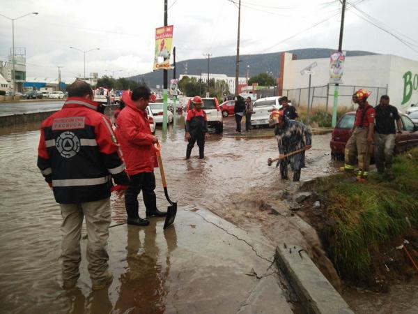 Evitarán anegación en el Tezontle con dren pluvial